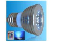 IR Remote controlled RGB LED spot light;E27 Base;1*3W;Bridgelux Chip
