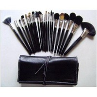 High Professional Beauty Make Up Tools 24 pc Brush Set With Number Kit And Leather Pouch (24 PCS/LOT)
