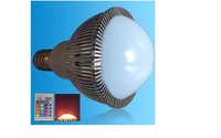 IR Remote controlled RGB LED bulb;dimmable;E27 Base;6*1W;Bridgelux Chip