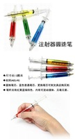 30pcs/lot Ball point pen syringe pens Creative Idea Gift + Gift&Free Shipping