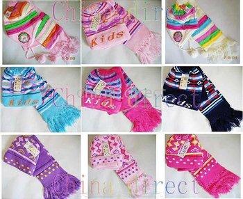 scarves 28sets/lot new Set Boys girls baby Beanie Scarf Cap Crochet Bonnet Hats