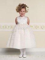 Ball Gown Scoop Tea- Length Flower Girl Dresses 2009 Style SKU510072