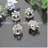 Free shipping!!alloy 13*12MM crown charm pendant,retail+wholesale