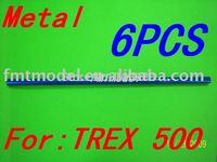 F00505-6   6PCS Blue Metal Tail Boom For  TREX T-REX 500 CF GF ESP  + Free shipping