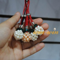 Pearl Mobile Chain, Mobile Phone Hanger, Cell Phone Charms (MCS6225)