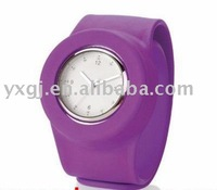 elegant silicone slap watch