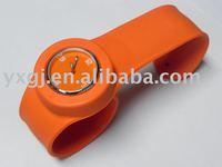 novel silicone ion slap watch