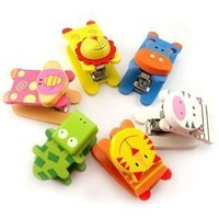 Free Shipping/Wholesale 8pcs Many Colors mini cartoon wooden stapler