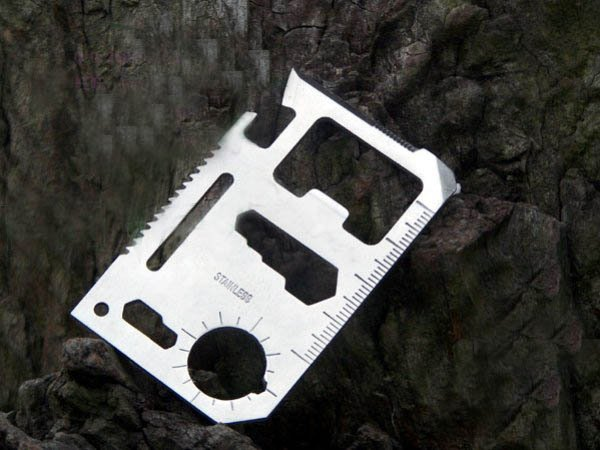 Universal life-saving card/11 functions Switzerland Knife/pocket survivalcard knife/multi-survival card /wholesale/free shipping(China (Mainland))