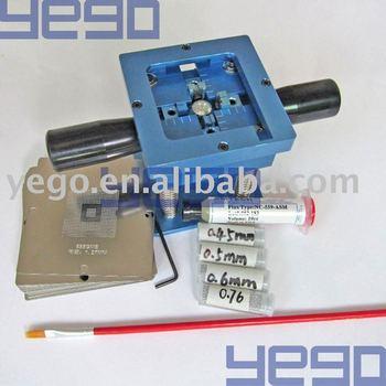 Free Shipping BGA Reballing Station + 62 Stencils (For notebook IC)+ leaded ball * 4 pcs + 10cc paste + BGA Brush