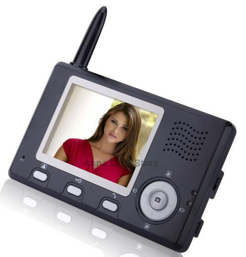2.4GHz Digital Wireless Video Door Phone & EMS/UPS/DHL Free Shipping(China (Mainland))