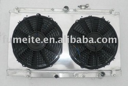 "97-01 PRELUDE ALUMINUM RADIATOR +aluminum fan shroud+2 sets 12"" electro fan(China (Mainland))"