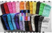 Many Colors 4 Crochet Headband- Baby girl 2.7 INCH Crochet Headband soft