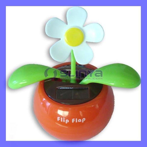 Cute Flip Flap Solar Powered Flower Gift Flowerpot(China (Mainland))