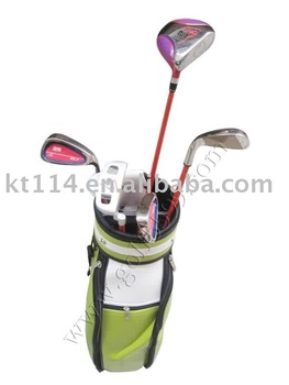 size L colorful kid golf club set with free shipment +free gift