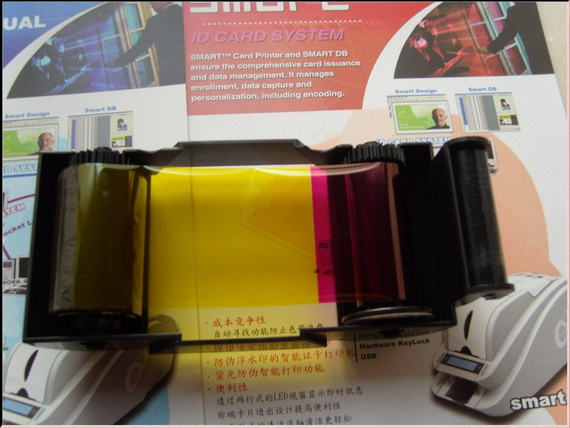 promotion free shipping-PVC card printers color ribbons & clean kits(China (Mainland))
