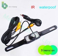 Free Shipping car rearview camera,fully waterproof,license plate