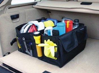 2015 Organizador Bolsas Vacuum Bag Car Boot Tidy Bag Organizer Organize Auto Storage Box Multi-use Tools Organiser free Shipping