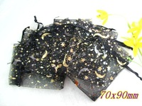 300pcs Black Moon & Star jewelry bags + Gift&Free