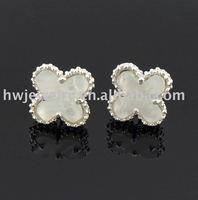 21563 silver mop earring