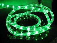100m/roll LED 2 wires round rope light;30leds/m;13mm diameter;DC12V/24V/AC110/220V are optional;green color