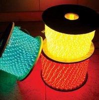 100m/roll LED 3 wires flat rope light;30leds/m;size:11mm*18mm;DC12V/24V/AC110/220V are optional;warm white color