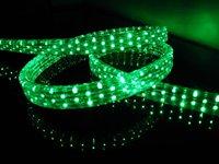 100m/roll LED 5 wires flat rope light;36leds/m;size:11mm*28mm;DC12V/24V/AC110/220V are optional;green color