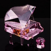 Festival gift,Crystal piano music box & musical box