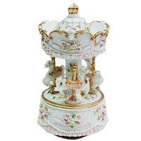 Exquisite mini Carousel music box, whirligig, merry-go-round, wonderful gift