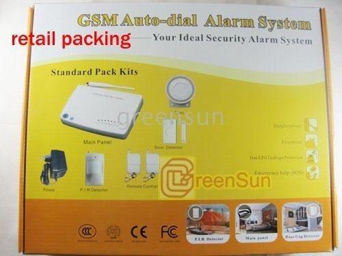 GSM burglar system Home GSM Wireless Autodialer Alarm System 007M3B (2pcs/lot)(China (Mainland))