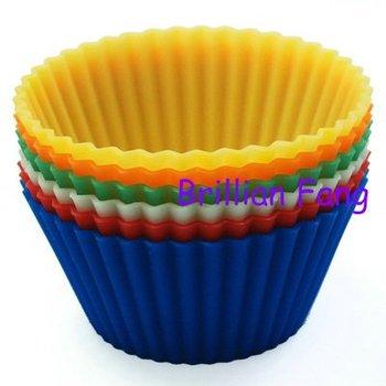 Free shipping + Silicone Cake Mold/Muffin Cupcake Pan, 200pcs/lot