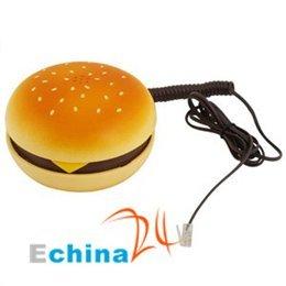 Hamburger Desktop Orange Phone Telephone in Movie JUNO Super New Wholesale and Free Shipping 100 pcs