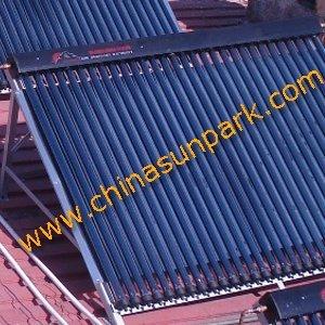 copper manifold  18 vacuum tubes solar collector