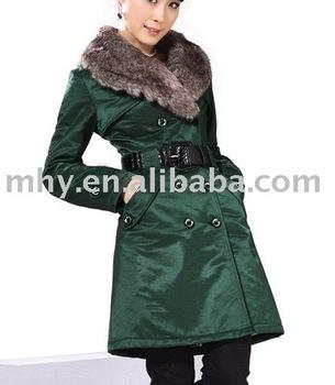 2010 new lady fashion winter coat,hot sell winter clothing  GJ001