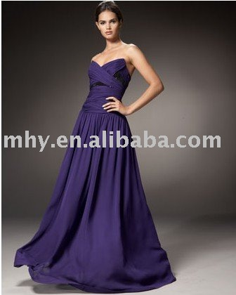 purple Robert Rodriguezed Black Label evening dress MP057(China (Mainland))