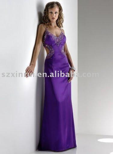 vestido de noite, vestido de noite bonita, vestido de noite, vestido de noite romântica, feito aceitar-ZBY124(China (Mainland))