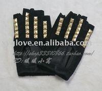 Suede fingerless leather gloves Fashion women  gloves
