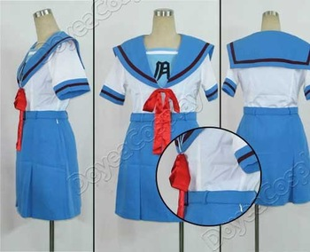 Haruhi Suzumiya  Women's short sleeve summer uniform  Cosplay Costume