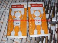 Free shipping by China Post.Christmas gift. USB2.0 4 Port Hub, 4 Port USB Hub,30pcs/lot