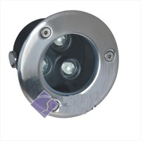 3*1W led underground light, size:dia100*65mm;12/24V input,45/60 beam angle, R/Y/G/B/W color optional,please advise for order