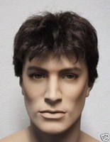 2012 new men black periwig wig top quality