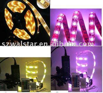 Free shipping Waterproof  RGB 3528 strip lamp on hot sale
