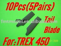 F00133-5,   5Pairs Tail Blade Blades For ALIGN TREX 450 PRO SPORT SE V2 XL S CF Rc Helicopter + Free shipping