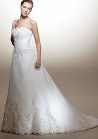 Free shipping 2010 new fashion bride wedding dress/ wedding gowns/sleeveless wedding dress