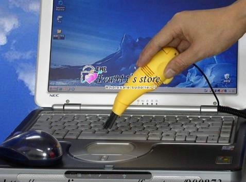 Wholesale - 100pcs/lot New Mini USB Vacuum Cleaner for Computer Laptop Keyboard Vacuum Clearner ivu911(China (Mainland))