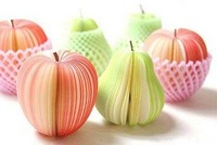 wholesale novelty notepaper, novelty apple notepaper, novelty pear notepaper