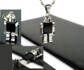Wholesale Popular hot sell New Guaranteed 100% 316L Stainless Steel Robots Pendant Necklace + free shipping