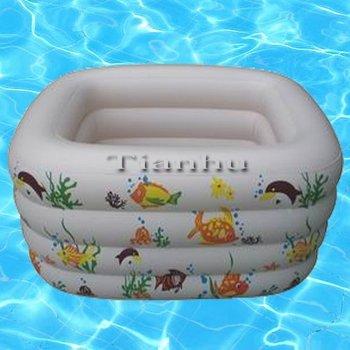 Free shipping 2pcs/lot 145cm*93cm*72cm Inflatable high-quality square swim pool, four rings. Baby swim pool Free shipping