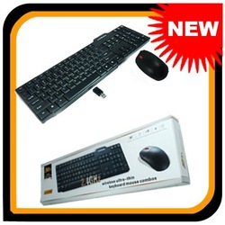 NEW Portable 2.4G 10M Optical Wireless Ultra-thin Keyboard Mouse Combo Set FC-1006K 102805 &amp; FREE SHIPPING(China (Mainland))