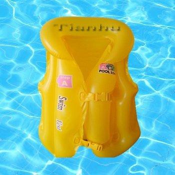 Wholesale 50pcs/lot 51cm Inflatable life jacket for children. Baby air jacket, life vest, floatation jacket Free shipping